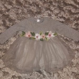 KNITTED FLORAL TUTU DRESS
